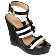 9 & Co.® Labonita Ankle-Strap Wedge Sandals