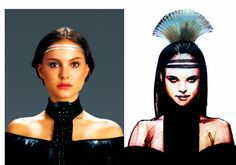 Concept vs. Reality: Padme Amidala's headdresses and hairstyles in Attack of the Clones - Ian McCaig