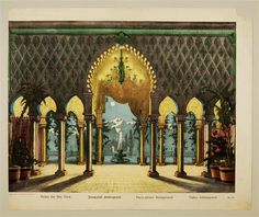 Fairy-palace. Background Nr. 26. by J.F. Schreiber c1880 Toy Theater Paper Sheet - from the online museum collection at http://skd-online-collection.skd.museum/de/contents/showSearch?id=336353#