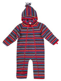 Jojo Maman Bebe Unisex-Baby Newborn Polarfleece All-In-One Snowsuit