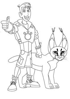 wild kratts coloring pages black and white.html