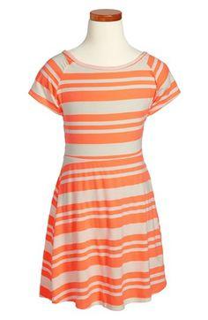 Vintage Havana Stripe Skater Dress (Big Girls) available at #Nordstrom
