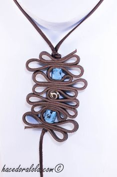 leather? necklace with beads