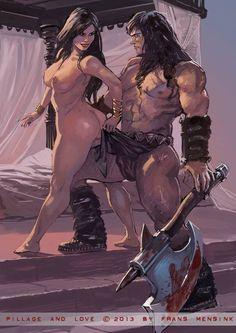Conan Art by Frans Mansik