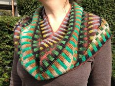 From Knitting Fever on FB Check out this great version of the Inspira Cowl our employee Cherry knit! She used Louisa Harding Yarns Amitola in colors #101 and #105 http://knittingfever.com/louisa-harding/yarn/amitola/ Find the pattern on Ravelry http://www.ravelry.com/patterns/library/inspira-cowl Ask for the yarn at your local yarn store!