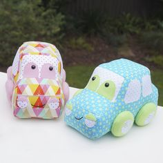 Cara and Coup car softie sewing pattern by Melly & me