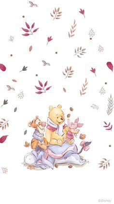 Winnie The Pooh Tattoos, Winnie The Pooh Drawing, Cute Winnie The Pooh, Winne The Pooh, Winnie The Pooh Friends, Cartoon Wallpaper Iphone, Disney Phone Wallpaper, Bear Wallpaper, Cute Cartoon Wallpapers