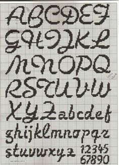 cross stitch font [22/10p]                                                                                                                                                                                 More