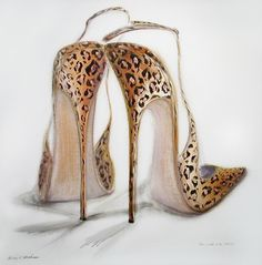 Love Love these, Sexy and animal print!    Kelly-Oneal-paints fabulously stylish shoes