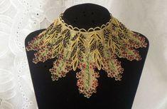 Bib or collier collier artistique Topper Vintage par RoniStatement