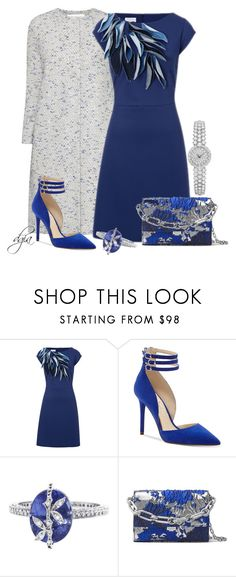 """""""ESCADA Dress"""" by dgia ❤ liked on Polyvore featuring Harris Wharf London, ESCADA, Jessica Simpson, Cathy Waterman and Michael Kors"""