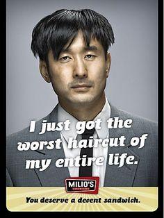 Milio's Sandwiches: I just got the worst haircut of my entire life. You deserve a decent sandwich. #Milios