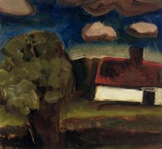 A landscape with a farm - Constant Permeke