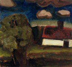 A landscape with a farm - Constant Permeke