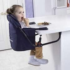 A Hook On High Chair Is A Small Seat That Clamps To A Table, Allowing  Feeding At A Dining Table Or Counter, Then Folds Up Flat For Easy Storage.  Ideal.