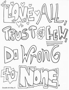Shakespeare Quotes Coloring Pages