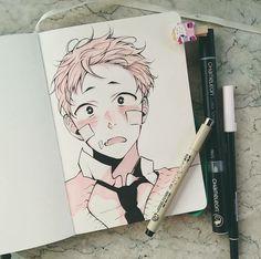 Flower boy notebook therapy в 2019 г. Pretty Art, Cute Art, Character Drawing, Character Design, Arte Sketchbook, Anime Sketch, Copics, Aesthetic Art, Manga Art