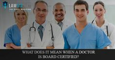 When visiting a #doctor, you may have noticed that he or she is board certified in a certain practice area (or multiple areas). Understandably, many patients wonder if board certification is mandatory, what exactly it entails, and whether they should only see #physicians who are #boardcertified in a specific area.