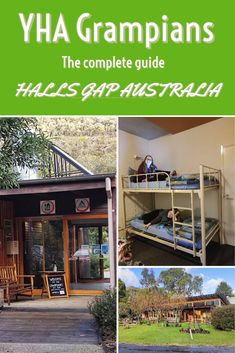This YHA hostel is located just as you enter Halls Gap. It is an easy walk of just under one kilometre to the centre of town.  The Grampians | Grampians National Park | Halls Gap | Halls Gap Accommodation | Things to do in Halls Gap | Things to see in Halls Gap | Things to do in the Grampians | Grampians waterfalls | Grampians walks | Victoria | Victoria Australia | Melbourne to Halls Gap | Stuff To Do, Things To Do, Australia Living, Best Hikes, Victoria Australia, Hostel, Nice View, Waterfalls, Melbourne