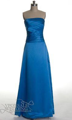 Elegant Long Royal Blue Bridesmaid Dresses DVW0134