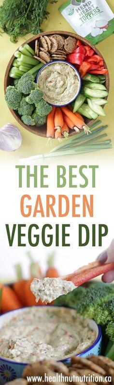 The Best Garden Vegetable Dip | Dairy-Free - Healthnut Nutrition