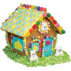 GINGERBREAD HOUSE~Welcome Home Bunny Hutch gingerbread house.