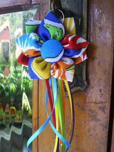 4th Of July Wreath, Patches, Wreaths, Christmas Ornaments, Holiday Decor, Home Decor, Peso De Porta, Paper Flowers, Hair Bows