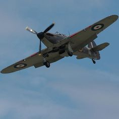 Hawker Hurricane - British single-seat fighter aircraft designed and mainly built by Hawker Aircraft Ltd for the RAF during WW2.