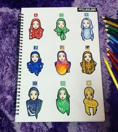"""Social Media Hijabister""-which one is your favorite?..by @pelukisjiwa…"