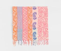 Multi-coloured towel sarong - OYSHO