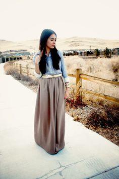 Zaira Benson: Chiffon Maxi skirt tutorial