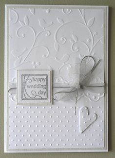 Elegant wedding by fayzm - Cards and Paper Crafts at Splitcoaststampers Elegant wedding<br> Wedding Cards Handmade, Handmade Wedding Invitations, Wedding Stationery, Wedding Shower Cards, Wedding Anniversary Cards, Happy Anniversary, Engagement Cards, Embossed Cards, Love Cards