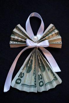 Homemade Christmas Gifts, Xmas Gifts, Homemade Gifts, Craft Gifts, Diy Gifts, Cute Gifts, Origami Gifts, Money Origami, Christmas Origami