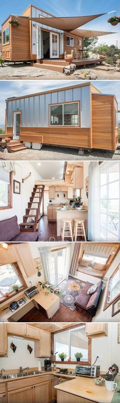 The Zen Cottages are built by Ben Rawson, an organic local farmer in Encinitas, California. These tiny houses on wheels come in 20', 26', or 32' lengths.