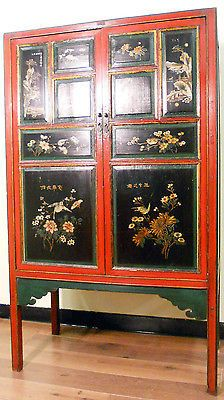 Antique Chinese Cabinet 5072 Hand Painted With Lacquer Circa 1800 1849