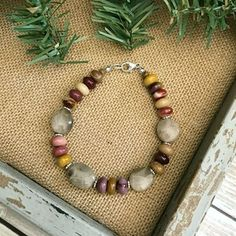 This unique Petoskey Stone Braceletis a beautiful and simplestatement piece that will compliment any outfit for any occasion.