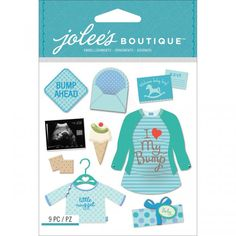 Jolee's Boutique Dimensional Stickers - Baby Boy Pregnancy