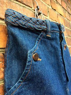 Dark Jeans, Dark Denim, Leather Boots, Denim Skirt, Vintage Ladies, My Etsy Shop, Pairs, Pockets, Orange