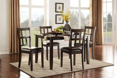 Thorpe Collection 5Pcs Dining Table & Chair Set 5422
