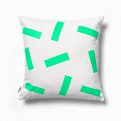 Slip Natural & Green Cushion