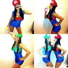 sexy mario luigi - Girl Mario And Luigi Halloween Costumes