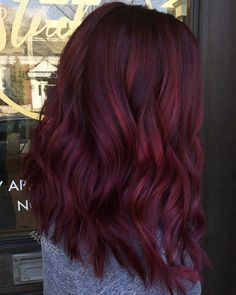 """35 inspirations that let you crack for the coloring """"mulled wine"""" - hair - Hair Colors Hair Color Shades, Red Hair Color, Cool Hair Color, Magenta Hair, Ombre Hair, Maroon Hair, Long Burgundy Hair, Red Balayage Hair Burgundy, Vibrant Red Hair"""