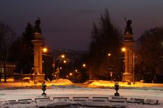 Silent nights at Highland Park Entry Garden by Melissa @ Pittsburgh Parks Conservancy, via Flickr