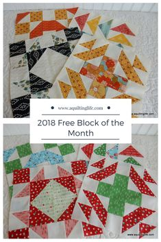 Quilting Life Mystery Block of the Month Star Quilt Patterns, Pattern Blocks, Patch Quilt, Quilt Blocks, Quilting Tutorials, Quilting Ideas, Quilt As You Go, Sampler Quilts, Applique
