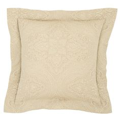 Annie Selke Luxe Firenze Sandstone Sham  Rest easy on this glamourous 100%…