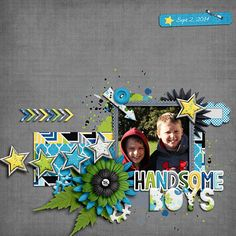 Digital Scrapbook Page by Jennifer | Hey There Handsome by Bella Gypsy
