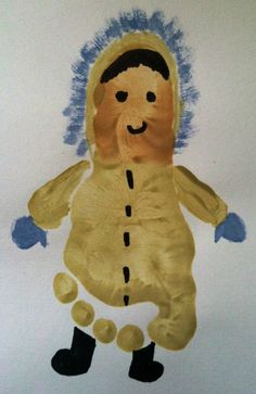 Footprint Eskimo craft for kids