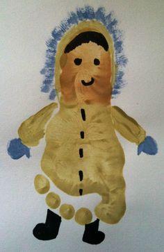 Footprint Eskimo craft for kids