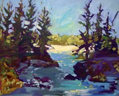 "Saatchi Art Artist Kaija Savinainen Mountain; Painting, ""Madawaska Morning "" #art"