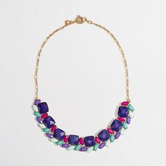Factory sweeping stones necklace // JCrew Factory (Tanger Outlets)
